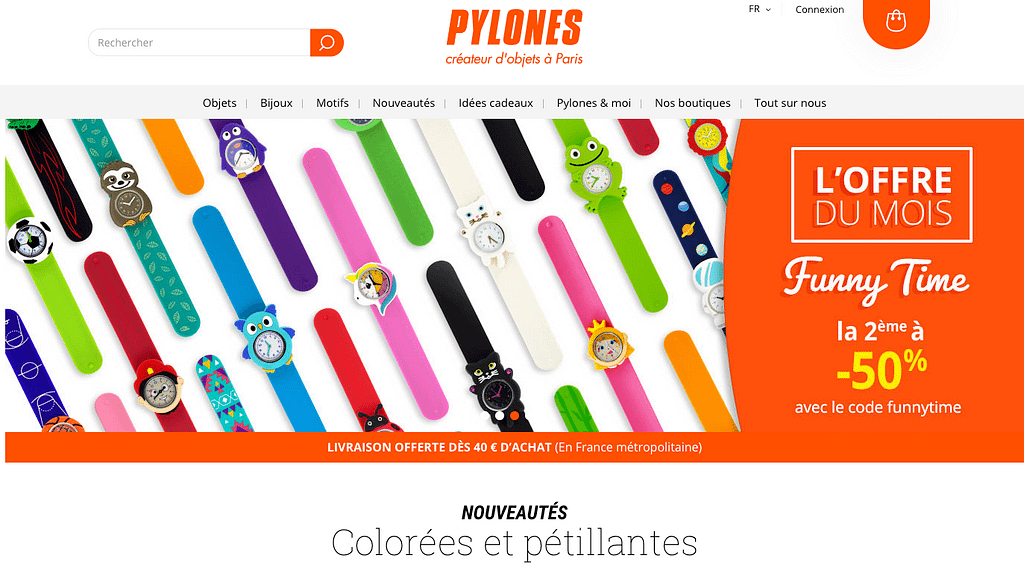 accueil pylones site prestashop