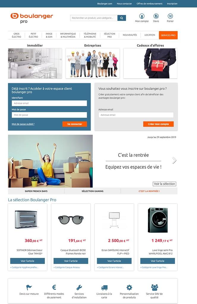 Boulanger Pro - Site E-Commerce B2B