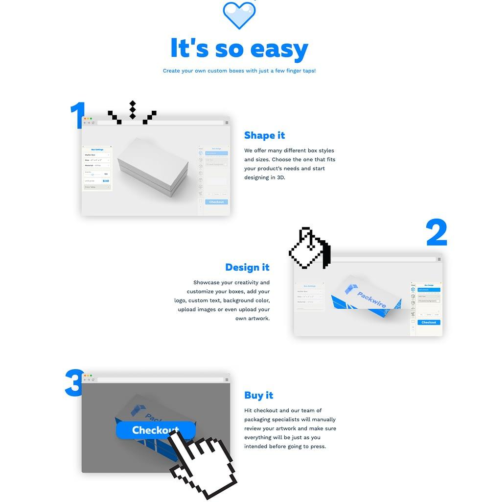Page d'accueil de PackWire