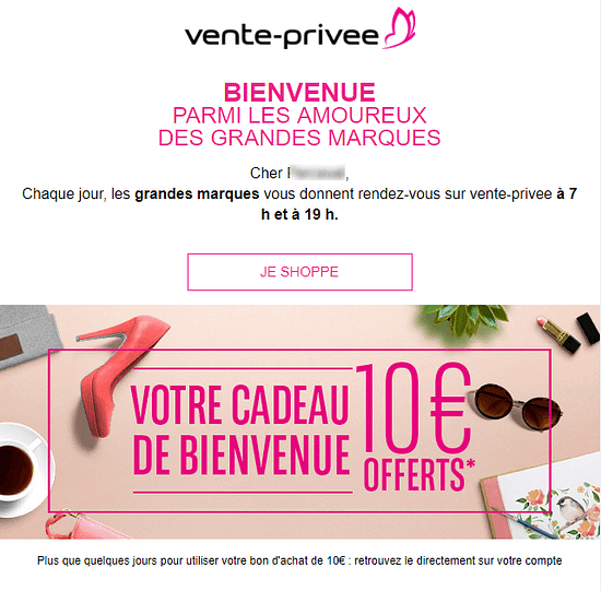email promotionnel vente-privee