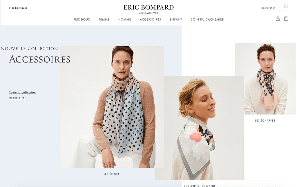 page d'accueil 2 eric bompard exemple site prestashop