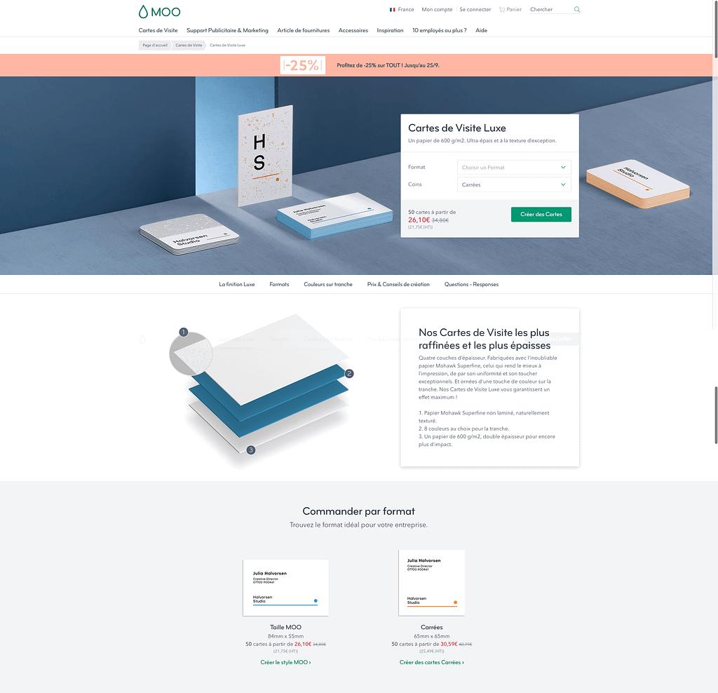 Page Produit Moo.com